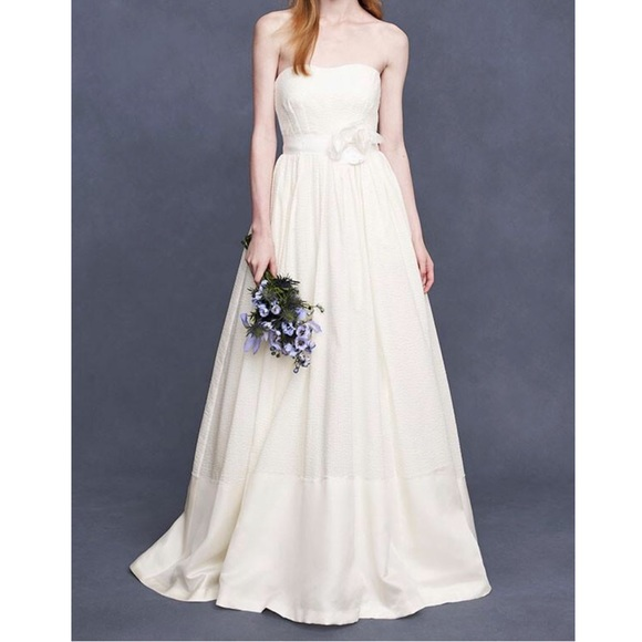 J. Crew Dresses | J Crew Corliss Wedding Silk Ball Gown A Line Lined ...